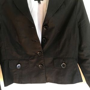 The Limited  chic essential black bouton jackets
